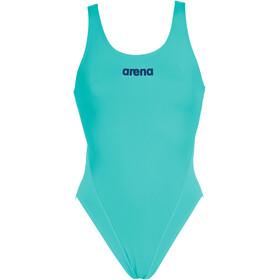 arena Solid Swim Tech High Badedragt Damer, turkis
